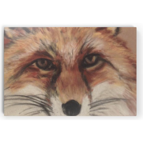 Horizontal Canvas - Wiley Winter Fox