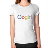 "Women's Short Sleeve T-Shirt - Google ""Go-Girl"""