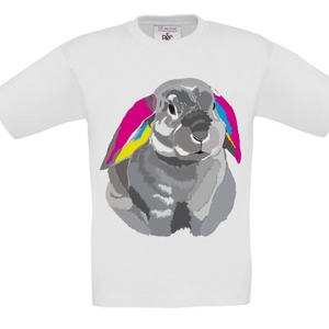 Rabbit CMYK Children's T-Shirt perfect for Easter giving!