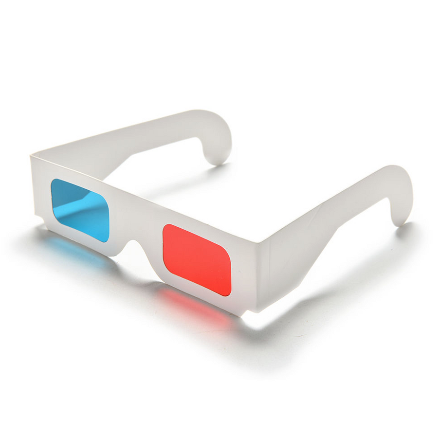 Red/Cyan 3D Anaglyph Glasses