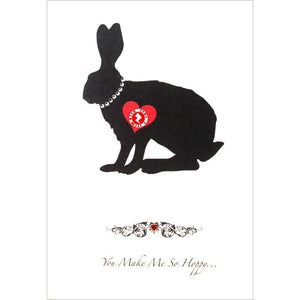 Love Zapz 'You Make Me So Hoppy' Rabbit Valentine's Greeting Card