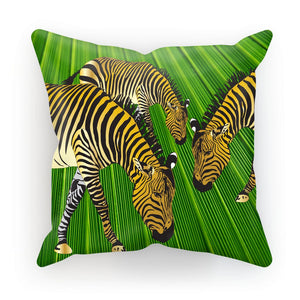 Three Golden Zebras Designer Gift Cushion