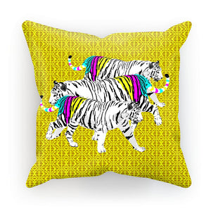 Three Tigers on Yellow Cushion/Pillow