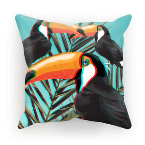 3D-Toucans-Leaves 3D Art Cushion with FREE 3D glasses to view!