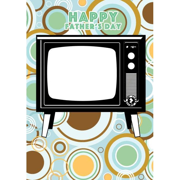 Zapz Father's Day Retro Television TV Video Augmented Reality Greeting Card