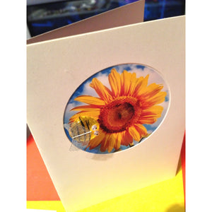 Buggles Bee & Sunflower Designer Card