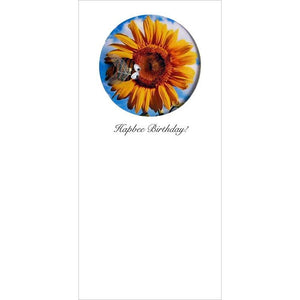 Buggles Bee and Sunflower Birthday Greeting Card 'Hapbee Birthday!'
