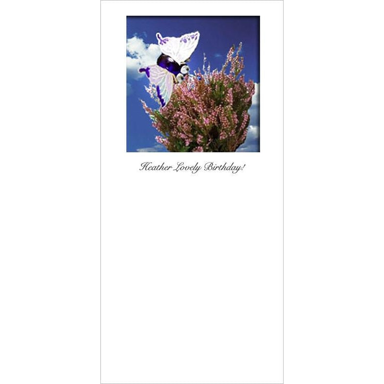 Buggles Butterfly Heather Birthday Greeting Card 'Heather Lovely Birthday'