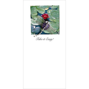 Buggles Dragonfly Pond Greeting Card 'Take it Easy!'