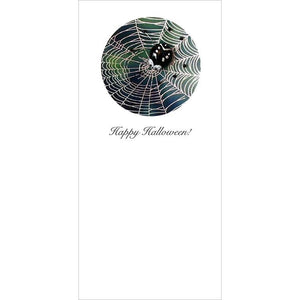 Buggles Spider on Web Halloween Greeting Card