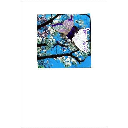 Buggles Butterfly Blossom Personalised Designer DL Greeting Card 'Spring brings wonderful things..'