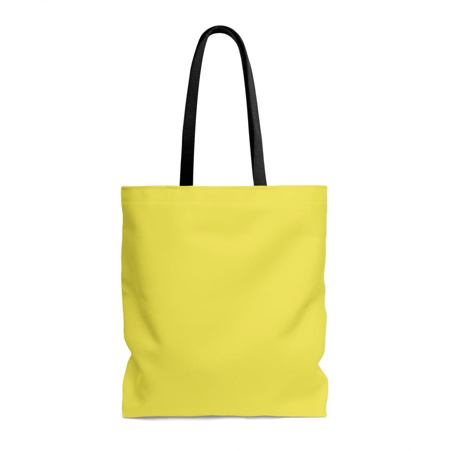 Three Tigers on Yellow AOP Tote Bag