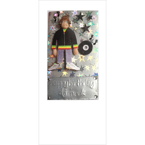 Dilly Dolly DJ Handmade Designer Greeting Card