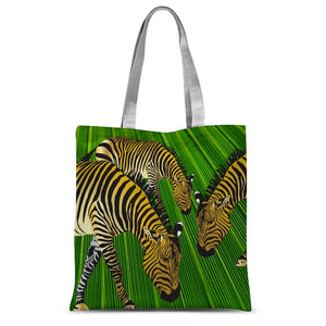 Three Golden Zebras Sublimation Tote Bag