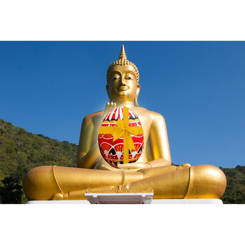 Peace at Easter Buddha Easter Greeting Card