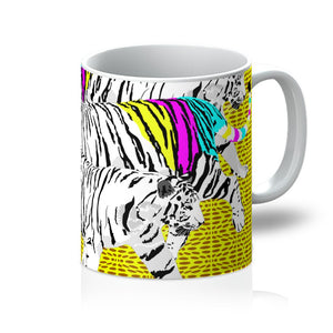 Three Tigers on Yellow Mug