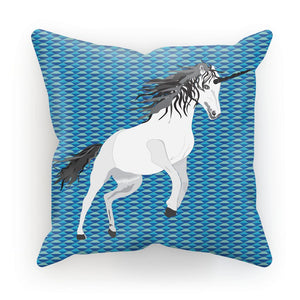 Unicorn on Blue Cushion/Pillow