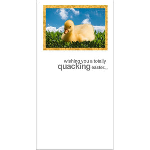 fotofitz easter duck greeting card