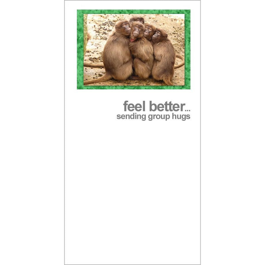 FotoFitz - Group Hug Baboons - Get Well Greeting Card