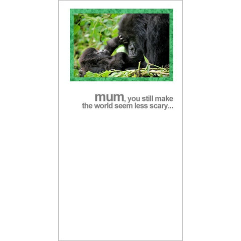 FotoFitz Gorilla & Baby Mother's Day Card