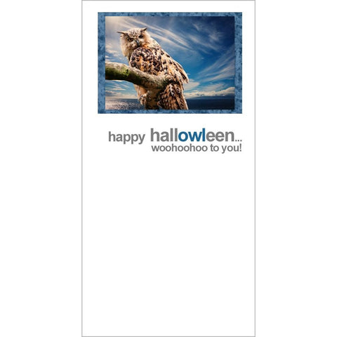 FotoFitz - Happy Hallowleen - Owl Halloween Greeting Card