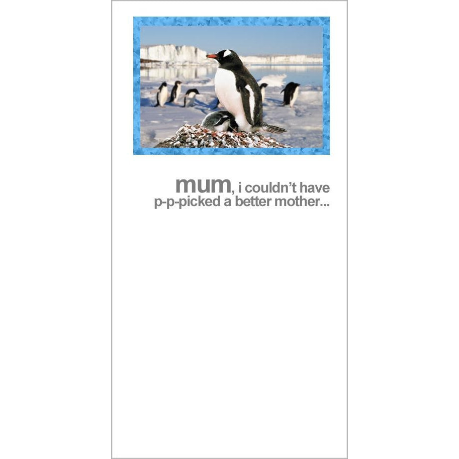 fotofitz penguin mothers day card