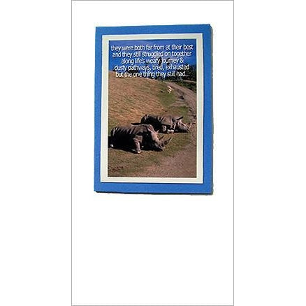 FotoFitz Rhino Horn Greeting Card