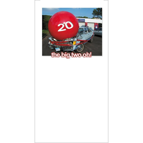 FotoFitz - 'The Big Two Oh!' - Greeting Card