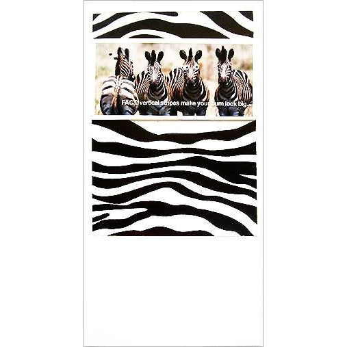 FotoFitz Zebra Bum Greeting Card