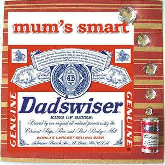 MisFitz Budweiser 'Dad'sWiser' Greeting Card