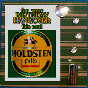 MisFitz Holsten Pils Birthday Hangover Greeting Card
