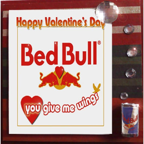 MisFitz Red Bull 'Bed Bull You Give Me Wings' Valentine's Greeting Card