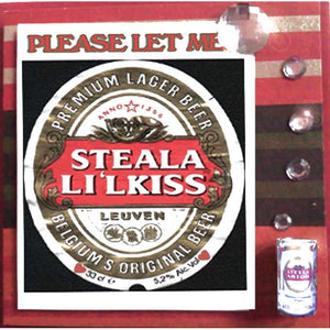 MisFitz Stella Artois 'Steal a L'il Kiss' Valentine/Love Greeting Card