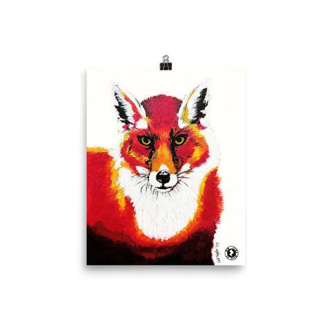 Red Fox Kaleidoscope Augmented Reality Poster