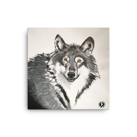 Augmented Reality Canvas Print - Grey Grey Wolf