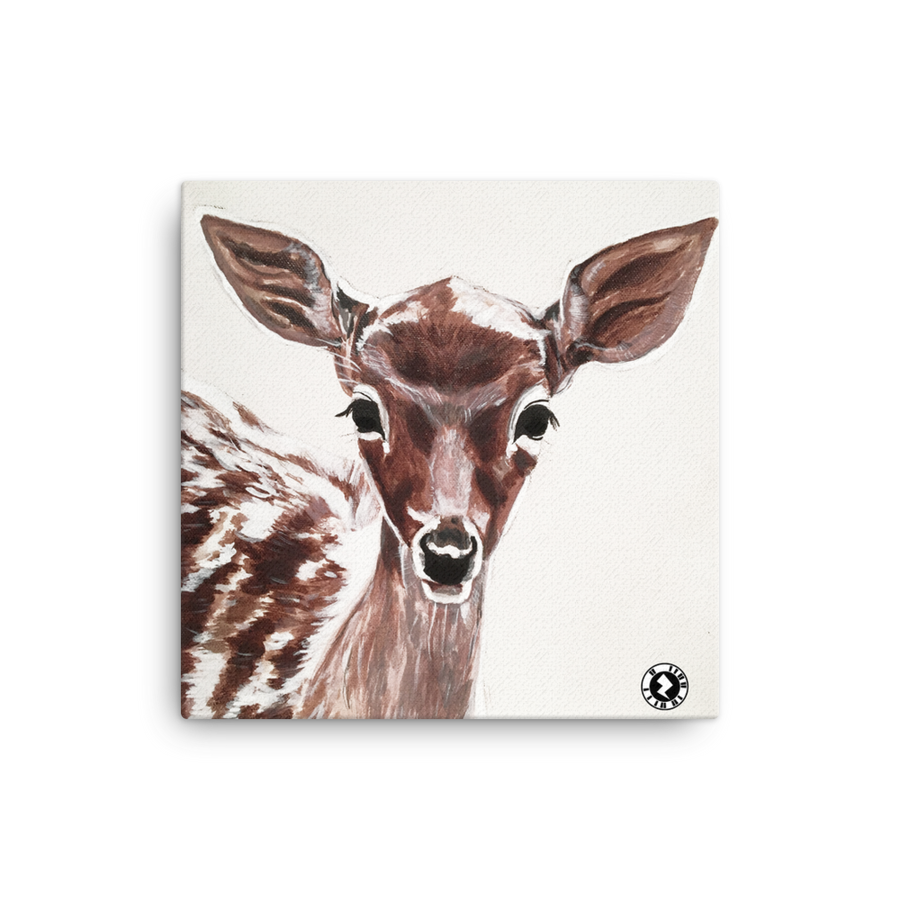 Augmented Reality Canvas Print - Fawn Deer