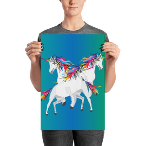 Rainbow Unicorns Poster