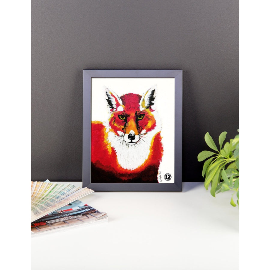 Red Fox Kaleidoscope Augmented Reality Framed photo paper poster