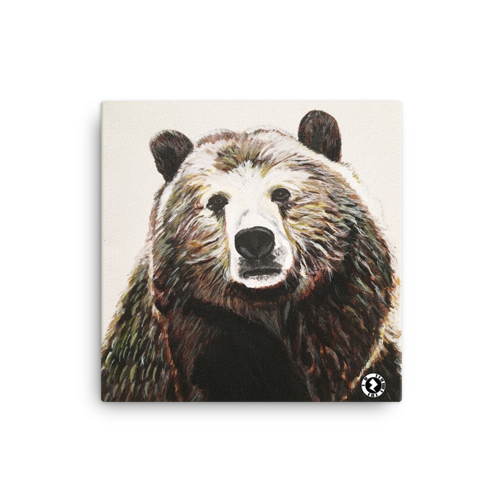 Augmented Reality Canvas Print - Beautiful Big Brown Bear