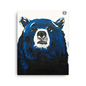 Blue Blue Bear Kaleidoscope Augmented Reality Canvas Art Print