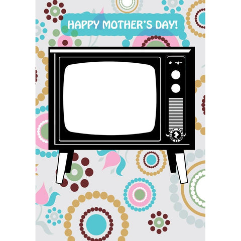Zapz Mother's Day Retro Television TV Video Augmented Reality Greeting Card