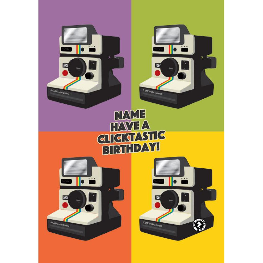Zapz Birthday Retro Polaroid Camera Personalised Augmented Reality Greetings
