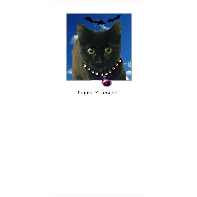 Posh Pawz Kitten Black Cat Halloween Greeting Card