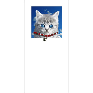 posh paws grey kitty kitten cat greeting card