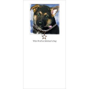 posh pawz alsation mothers day card