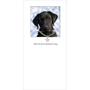 posh paws black labrador puppy mothers day card