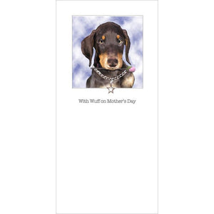 posh pawz doberman puppy mothers day card