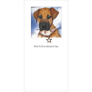 posh paws great dane puppy mothers day card