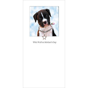posh pawz pit bull puppy mothers day card
