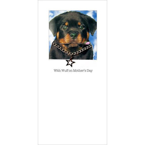 posh pawz rottweiler puppy mothers day card